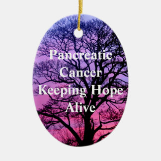 Pancreatic Cancer  Keeping Hope Alive ornament