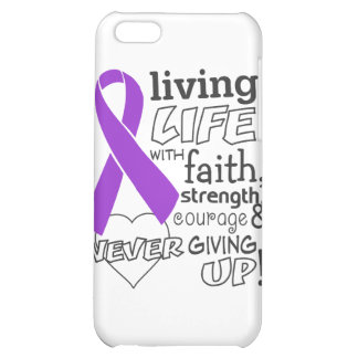 Pancreatic Cancer Living Life With Faith Cover For iPhone 5C