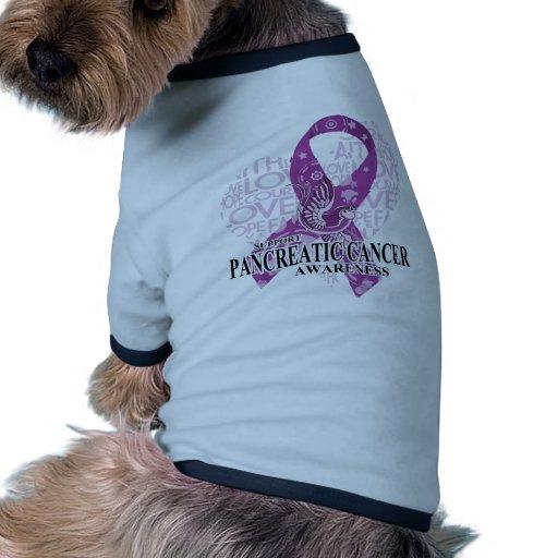 Pancreatic Cancer Love Hope Bird Doggie Tshirt