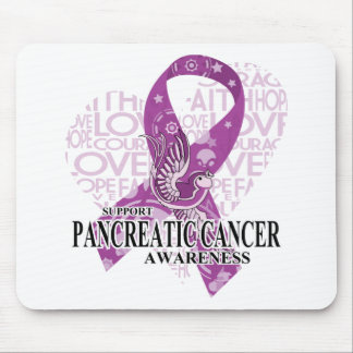 Pancreatic Cancer Love Hope Bird Mouse Pad
