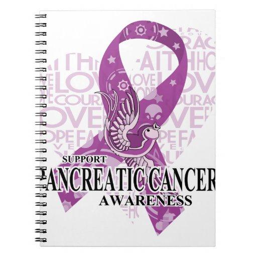 Pancreatic Cancer Love Hope Bird Notebook