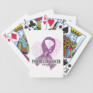 Pancreatic Cancer Love Hope Bird Bicycle Poker Cards