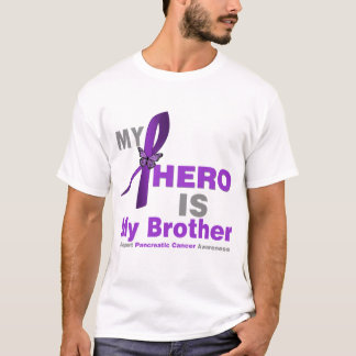 Pancreatic Cancer My Hero is My Brother T-Shirt