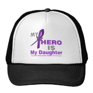 Pancreatic Cancer My Hero is My Daughter Trucker Hats