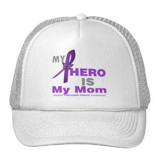 Pancreatic Cancer My Hero is My Mom Mesh Hats