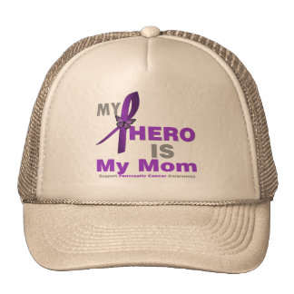 Pancreatic Cancer My Hero is My Mom Trucker Hats