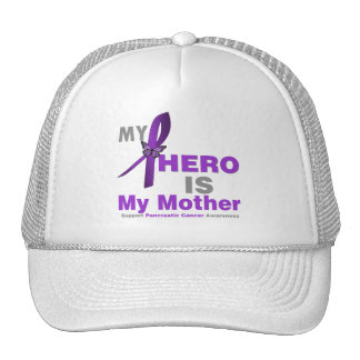 Pancreatic Cancer My Hero is My Mother Mesh Hat