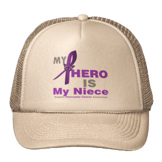 Pancreatic Cancer My Hero is My Niece Mesh Hats