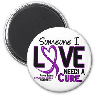 Pancreatic Cancer NEEDS A CURE 2 6 Cm Round Magnet