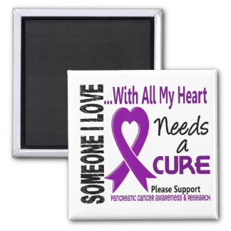 Pancreatic Cancer Needs A Cure 3 Square Magnet