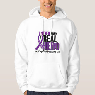 Pancreatic Cancer NEVER KNEW A HERO 2 Daddy Hoodie