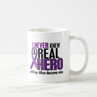 Pancreatic Cancer NEVER KNEW A HERO 2 Mom Coffee Mug
