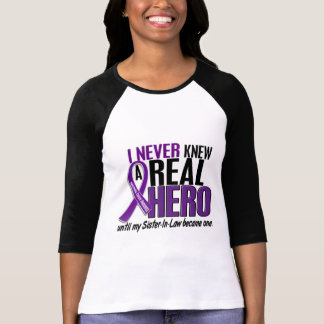Pancreatic Cancer NEVER KNEW A HERO 2 Sister-In-La T-Shirt