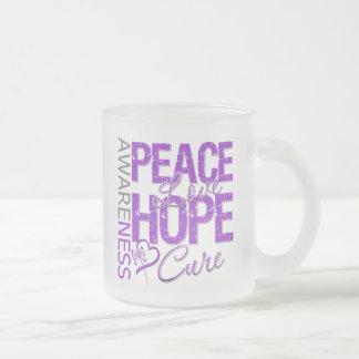 Pancreatic Cancer Peace Love Cure Mugs