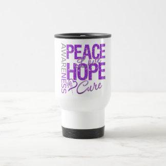 Pancreatic Cancer Peace Love Cure Coffee Mug