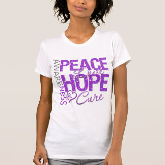 Pancreatic Cancer Peace Love Cure T-shirts