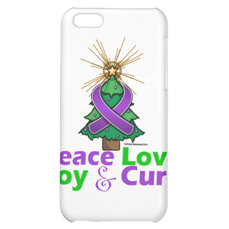 Pancreatic Cancer Peace Love Joy Cure Case For iPhone 5C