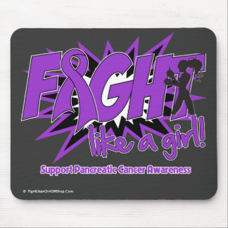 Pancreatic Cancer POW Style Fight Like A Girl Mouse Pad