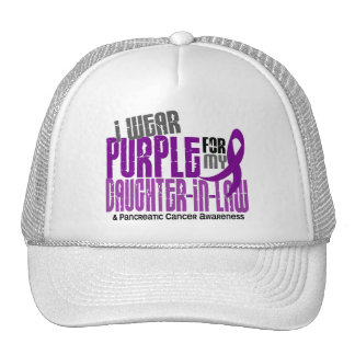 Pancreatic Cancer Purple For My Daughter-In-Law 6 Hats