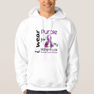 Pancreatic Cancer Purple For My Mother-In-Law 43 Hooded Sweatshirt