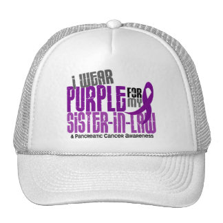 Pancreatic Cancer Purple For My Sister-In-Law 6.2 Trucker Hat