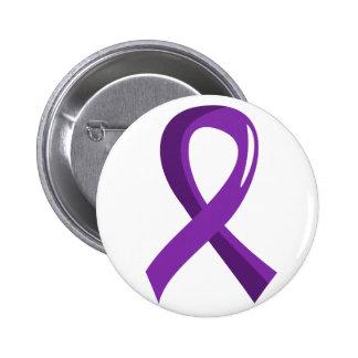 Pancreatic Cancer Purple Ribbon 3 6 Cm Round Badge