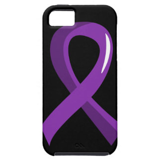 Pancreatic Cancer Purple Ribbon 3 iPhone 5 Case
