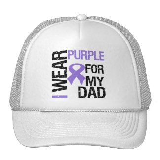 Pancreatic Cancer Purple Ribbon (Dad) Cap