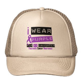 Pancreatic Cancer Purple Ribbon For My Daughter Hats