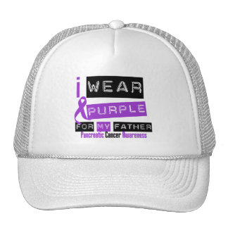 Pancreatic Cancer Purple Ribbon For My Father Mesh Hat
