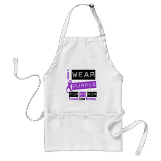 Pancreatic Cancer Purple Ribbon For My Mom Adult Apron