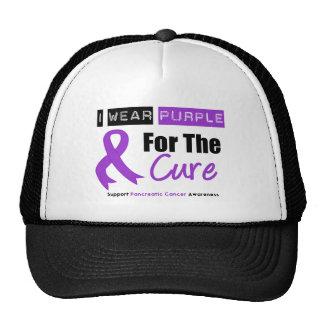 Pancreatic Cancer Purple Ribbon For The CURE Mesh Hats