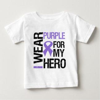 Pancreatic Cancer Purple Ribbon (Hero) T-shirt