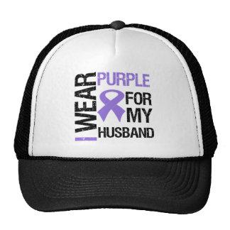 Pancreatic Cancer Purple Ribbon (Husband) Cap