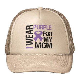 Pancreatic Cancer Purple Ribbon (Mom) Hat