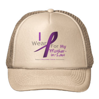 Pancreatic Cancer Purple Ribbon Mother-in-Law Trucker Hat