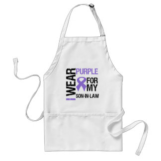 Pancreatic Cancer Purple Ribbon (Son-in-Law) Aprons