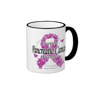 Pancreatic Cancer Ribbon of Butterflies Coffee Mug
