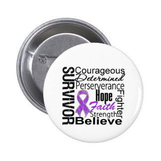 Pancreatic Cancer Survivor Collage 6 Cm Round Badge