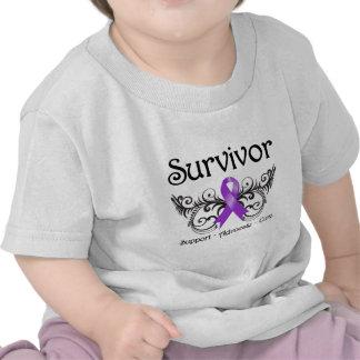 Pancreatic Cancer Survivor Floral Deco T Shirt