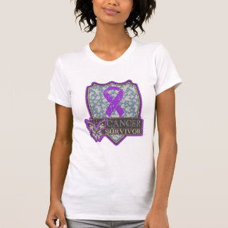 Pancreatic Cancer Survivor Vintage Butterfly Tees