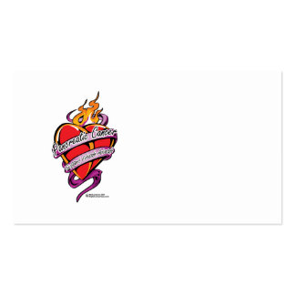 Pancreatic Cancer Tattoo Heart Business Card Templates