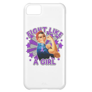 Pancreatic Cancer Vintage Rosie Fight Like A Girl. iPhone 5C Case