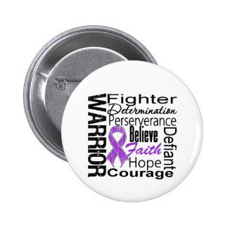 Pancreatic Cancer Warrior Collage 6 Cm Round Badge