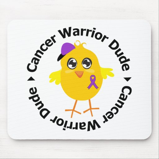Pancreatic Cancer Warrior Dude Mouse Pad