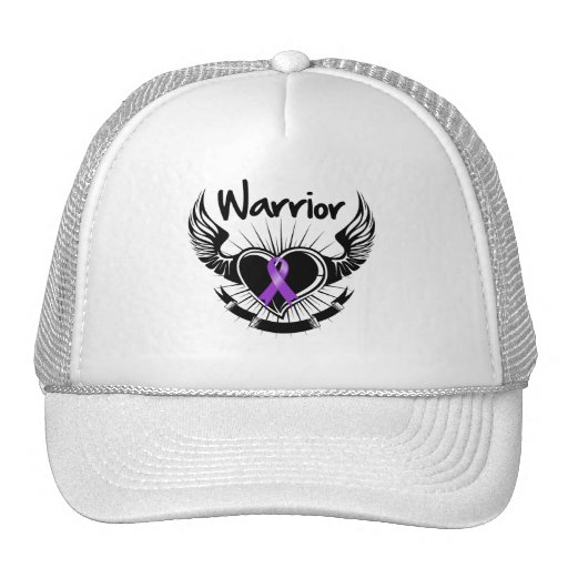 Pancreatic Cancer Warrior Fighter Wings Trucker Hat