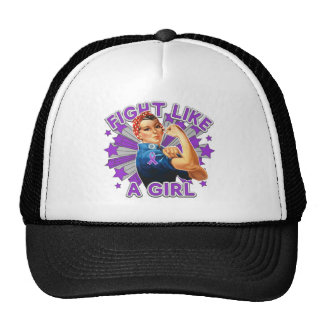 Pancreatitis Vintage Rosie Fight Like A Girl Trucker Hat