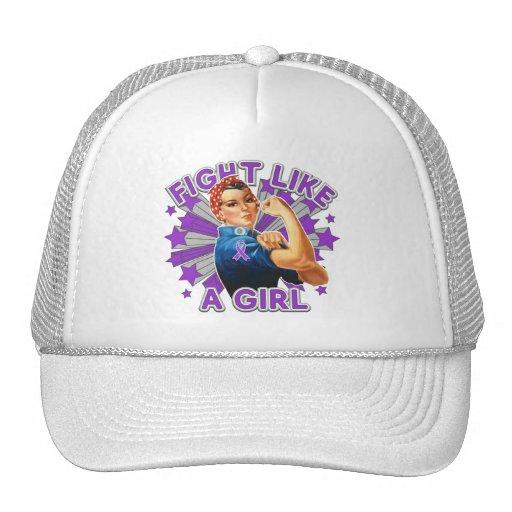 Pancreatitis Vintage Rosie Fight Like A Girl Hat