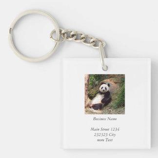 Panda 0315P Single-Sided Square Acrylic Keychain
