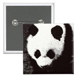Panda 15 Cm Square Badge